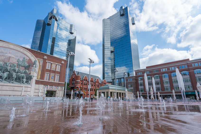Sundance Square in Fort Worth, TX was constructed to combat extreme heat.
