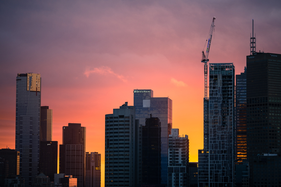 Melbourne sunset after VBA suspends building surveyor.