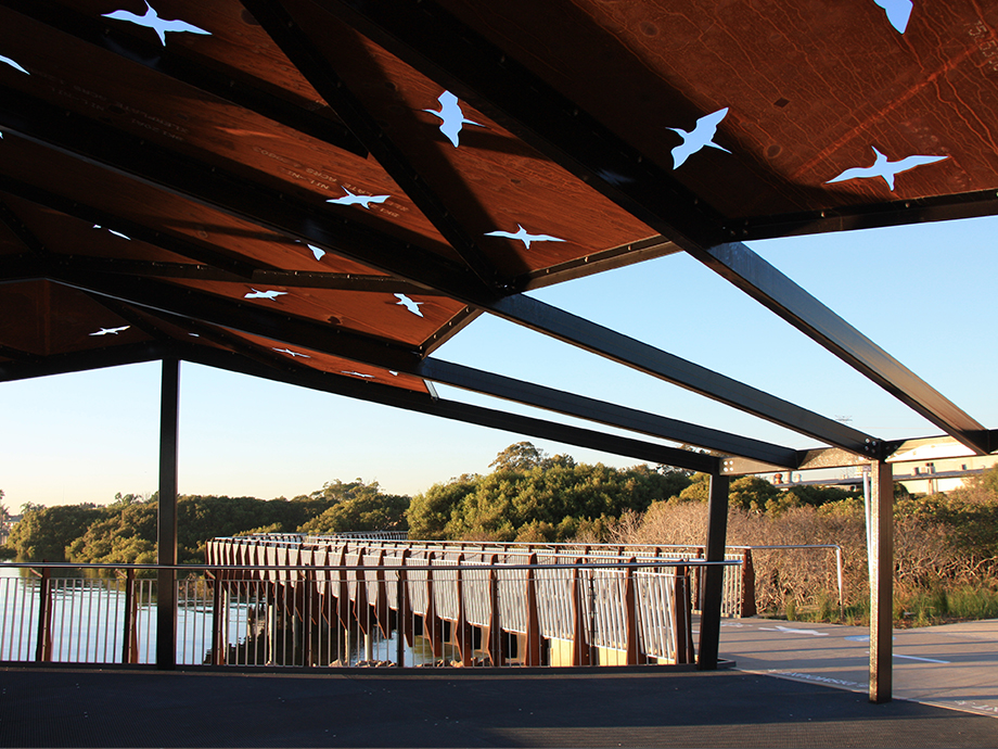 Woolooware Bay shade structure.